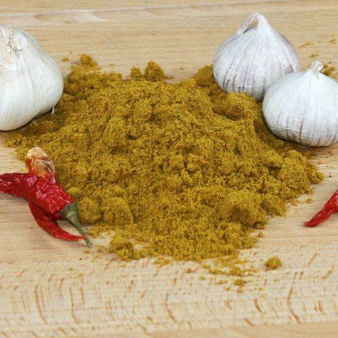 Ein Haufen Curry Madras