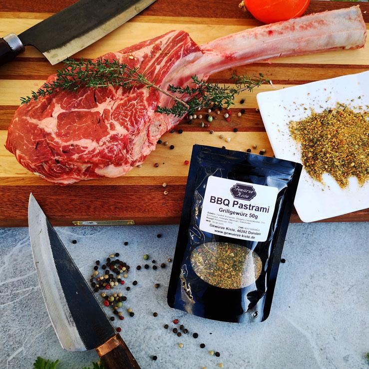 BBQ Pastrami und Toma Hawk Steak