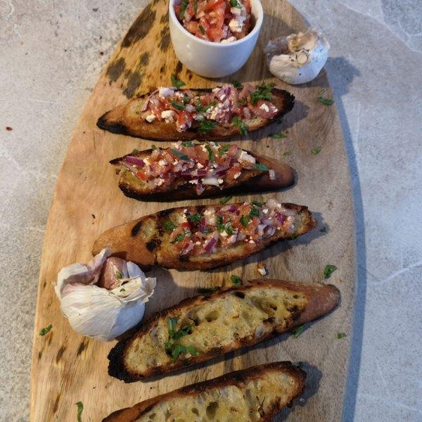 Bruschetta auf Baguette
