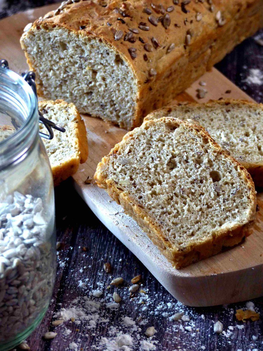 Einfaches Dinkel Kastenbrot vegan Rezept Brot selber backen