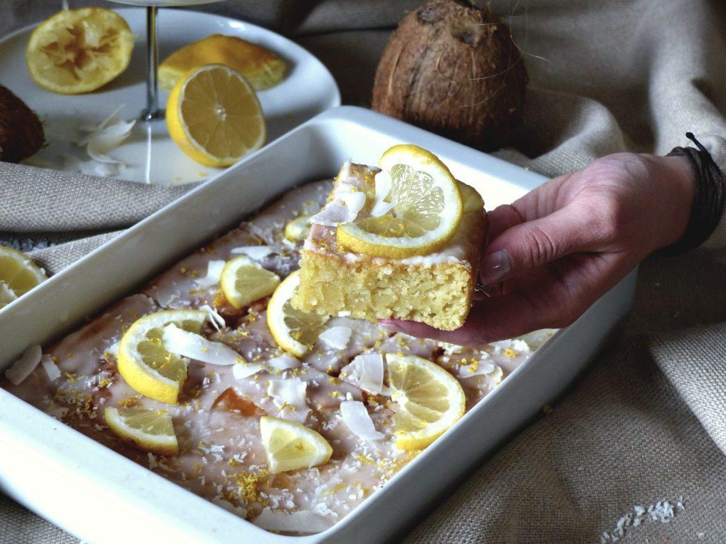 Zitronenkuchen vegan Rezept Kokos