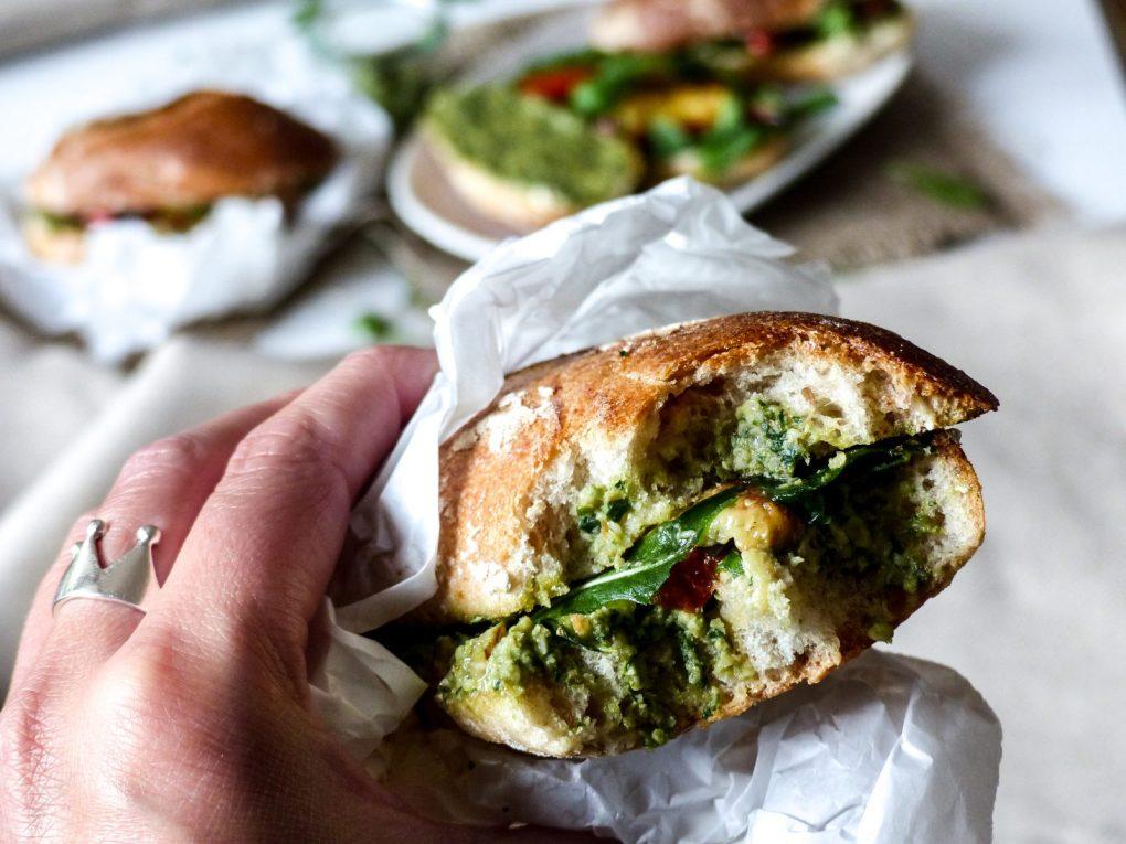 Veganes Antipasti Sandwich Rezept vegan