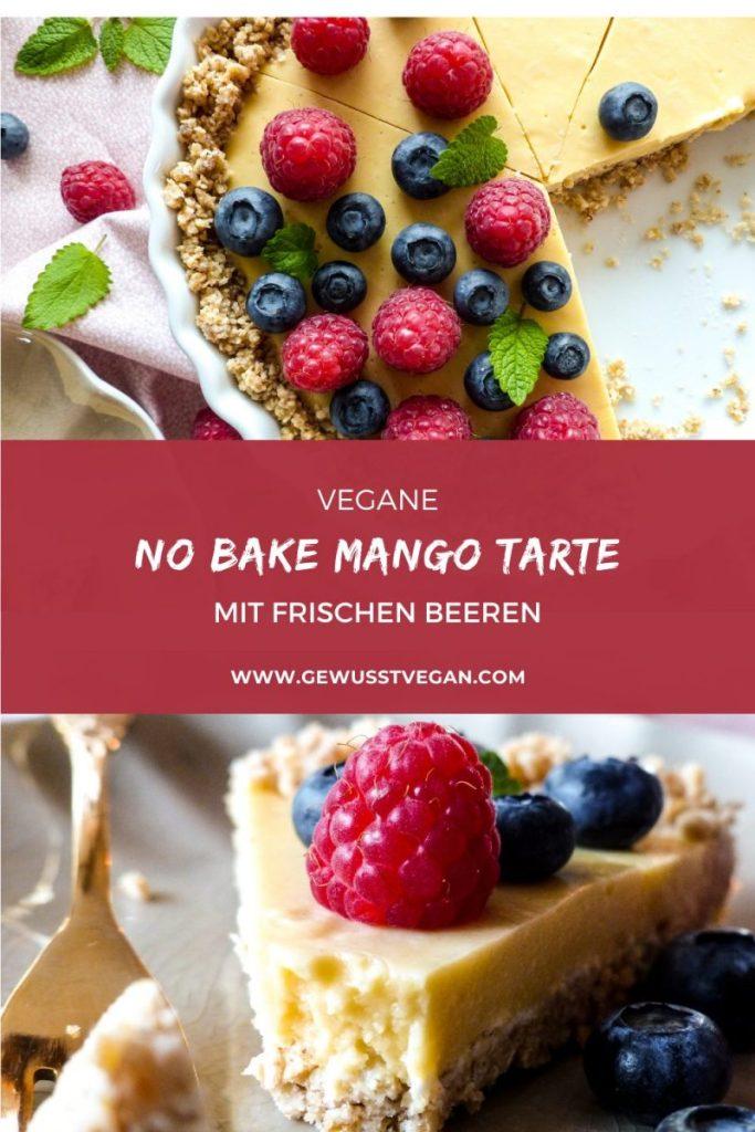 no bake mango tarte