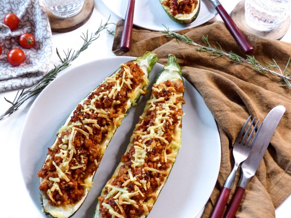 gefüllte Zucchini vegan Rezept