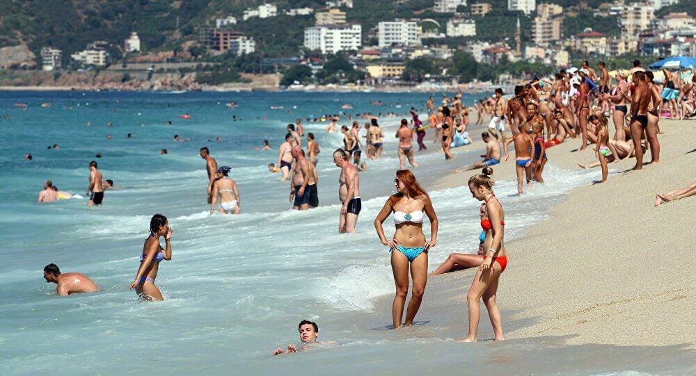 Kemer Plajı Ruslar