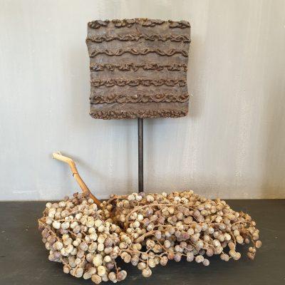 Batikstempel Krul op statief