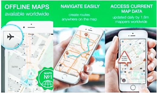 urt Dışı İçin En İyi Seyahat Uygulamaları  - Maps Me Offline (İnternetsiz) çalışan harika bir uygulama