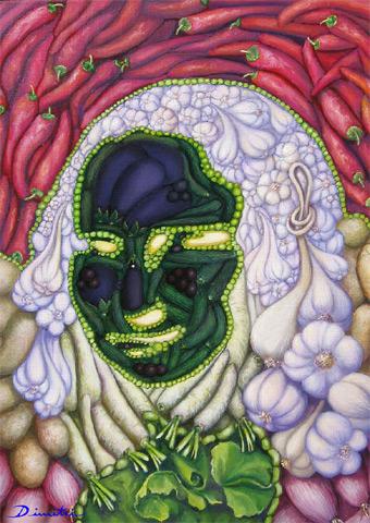 optische illusie – gezichtsbedrog – monalisa