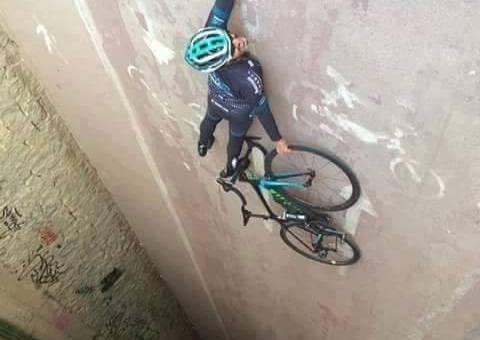 optische illusie fietser