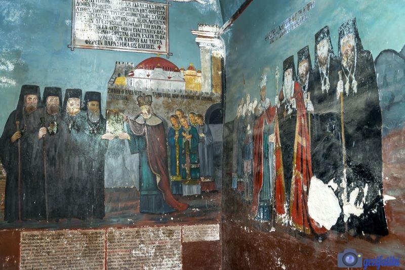 Barnabas manastırı ve ikon müzesinin içindeki freskler