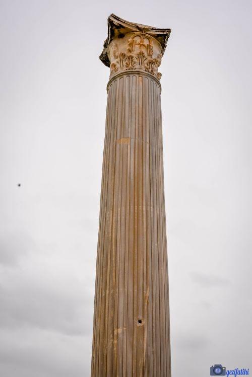 Salamis antik şehri gymnasiumdaki sütunlardan