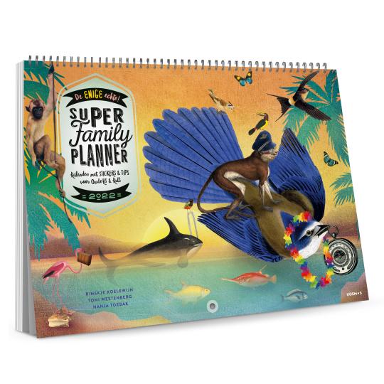 De maandkalender van Super Family Planner.