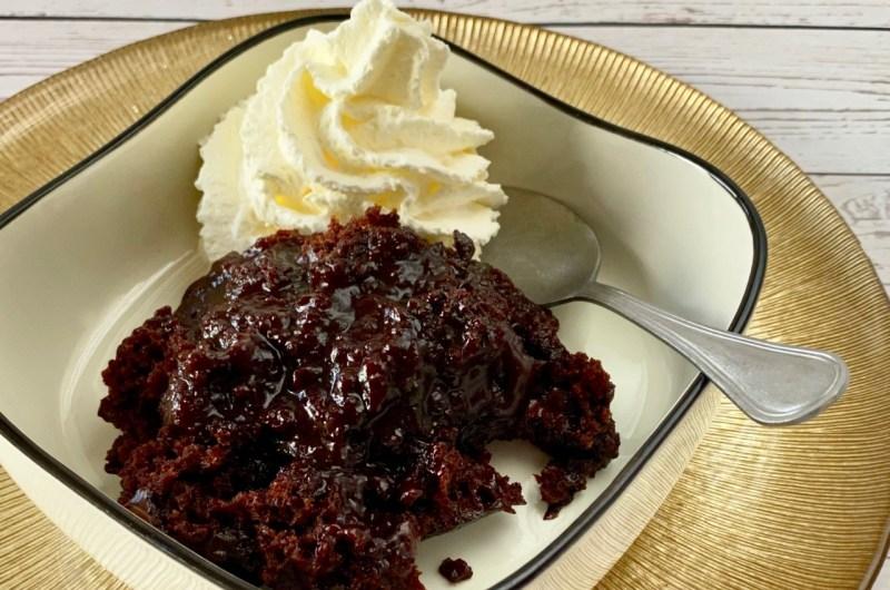 Slowcooker chocolade lava cake