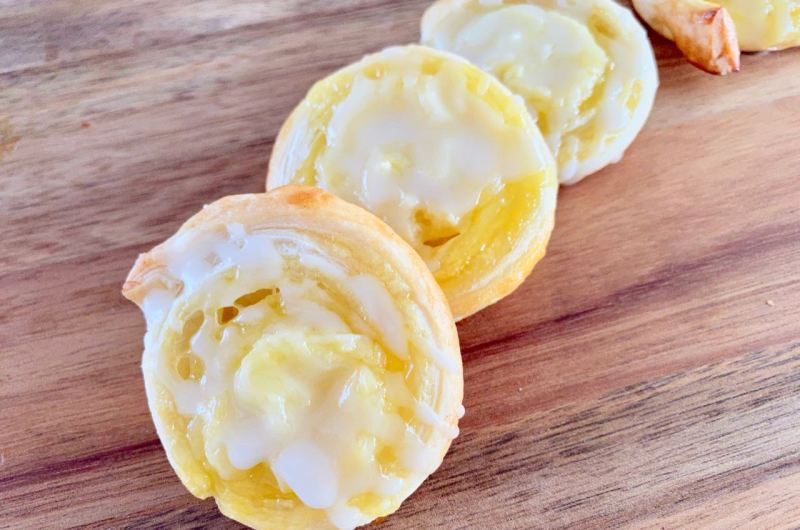 Deense citroen-roombroodjes van bladerdeeg