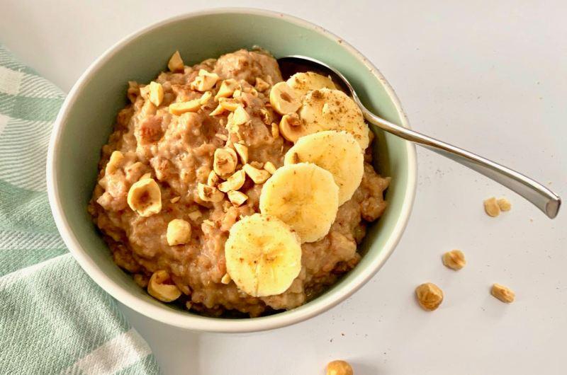 Overnight oats met banaan uit de slowcooker