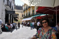 Sevilla' da yemek molası