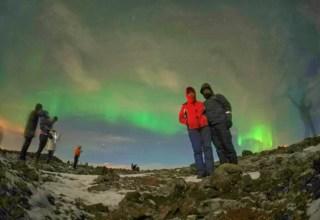 İzlanda'da kuzey ışıklarında