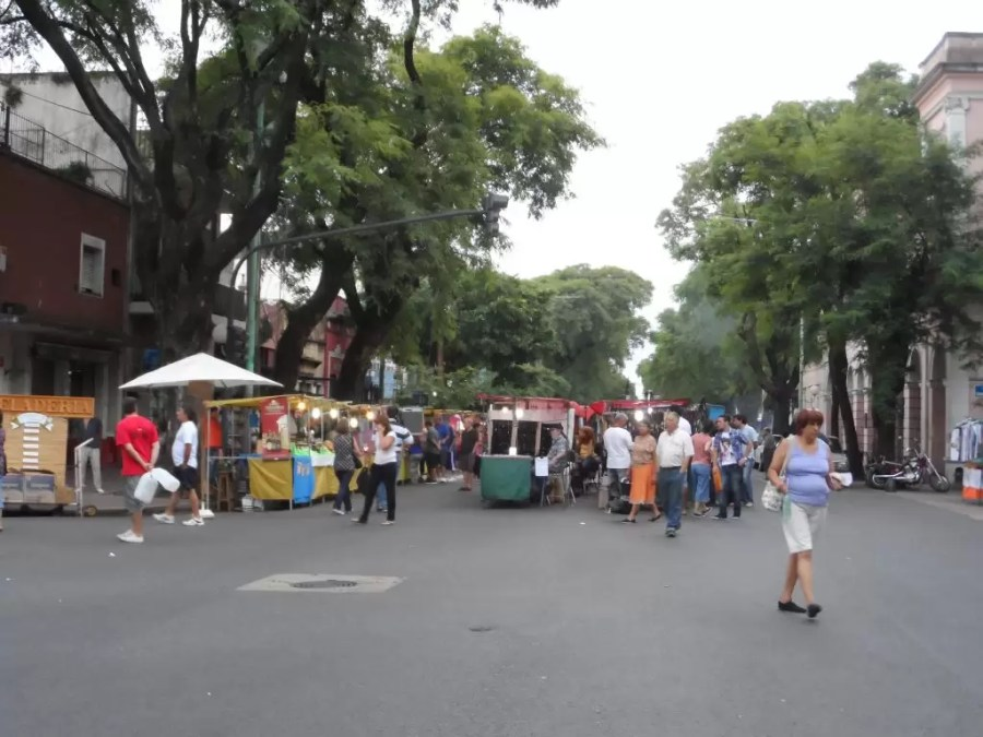 Feria de Mataderos stantları