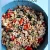 recept van Vegetarische couscous met halloumi, courgette en kikkererwten