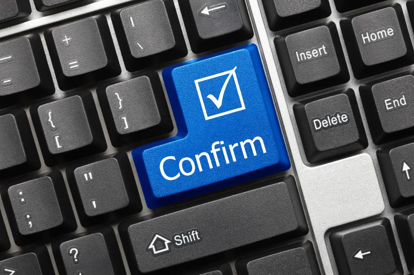 Conceptual keyboard - Confirm (blue key)
