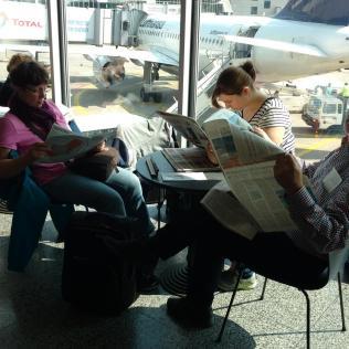 Am Flughafen in Frankfurt