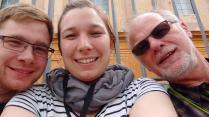 3/4 Familie in den Vatikanische Museen