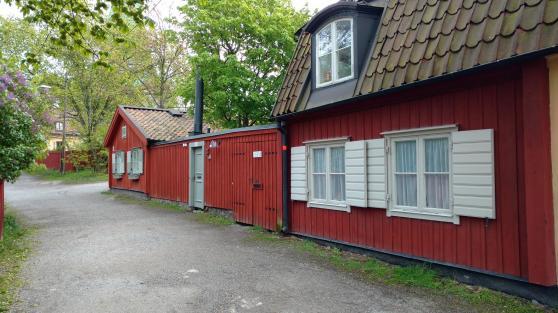 Alte Häuser in Stockholm