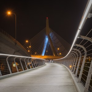 Walking to the Zakim Bridge
