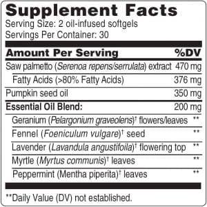 60 Softgels Label
