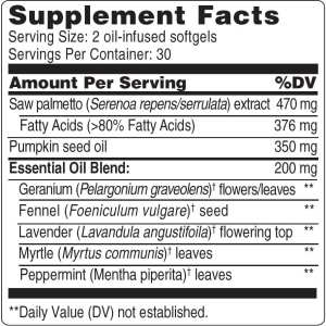 60 Softgels Label