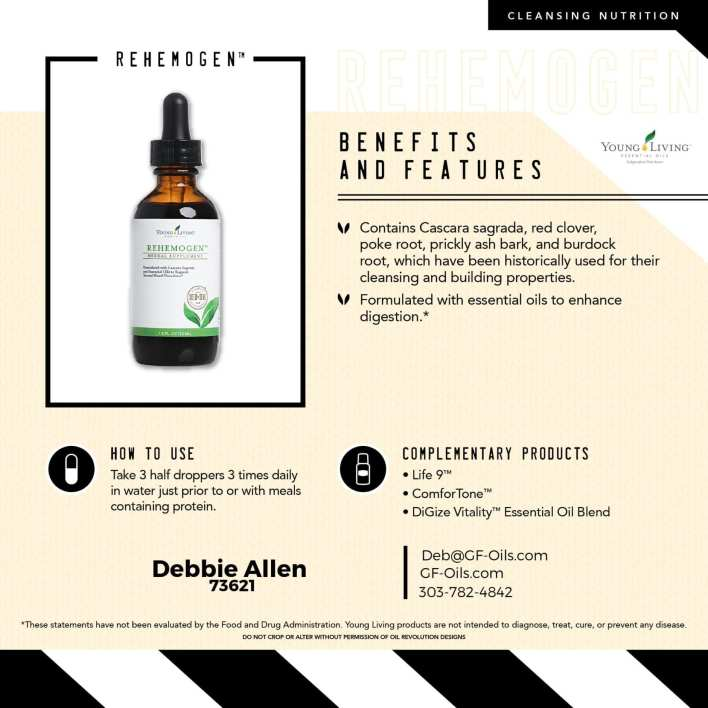 Rehemogen is also formulated with essential oils to enhance digestion
