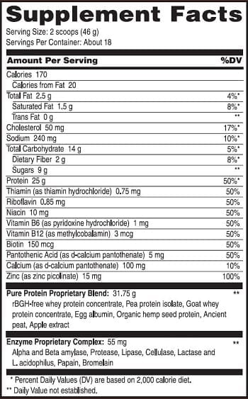 PureProtein chocolate