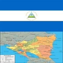 Flag_nicaragua-map