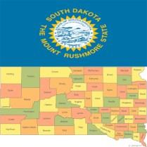 Flag_south-dakota-county-map