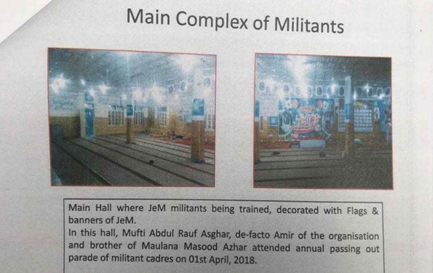 LLL - Live Let Live - Photos of Jaish-e-Mohammed camp show hall where terrorists trained and where they keep the ammo storage 1