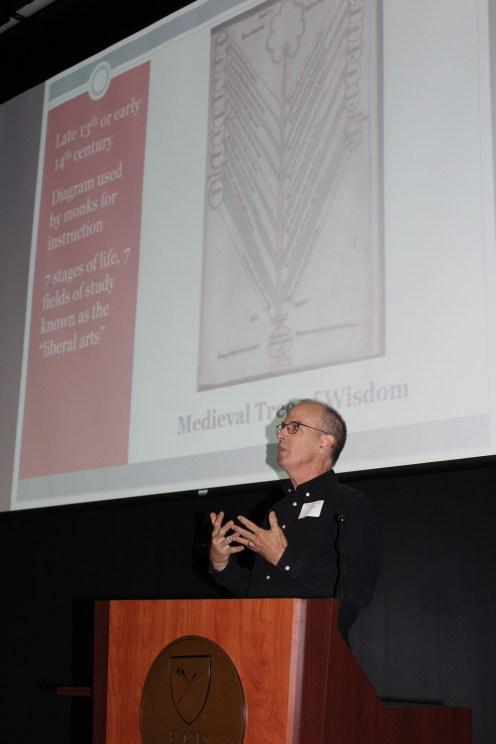 Jim Abbot, Agnes Scott College retired professor of classics and arboretum co-founder.