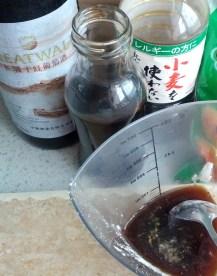 Sauce - red wine, dark vinegar, soy sauce