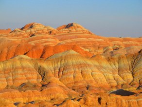 Danxia natural rock formation - I did not alter the colours, it really is this beautiful!