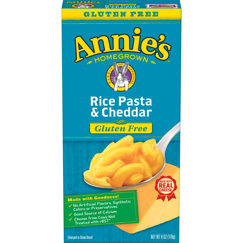 Product Review: Annie's Gluten Free Rice Pasta and Cheddar