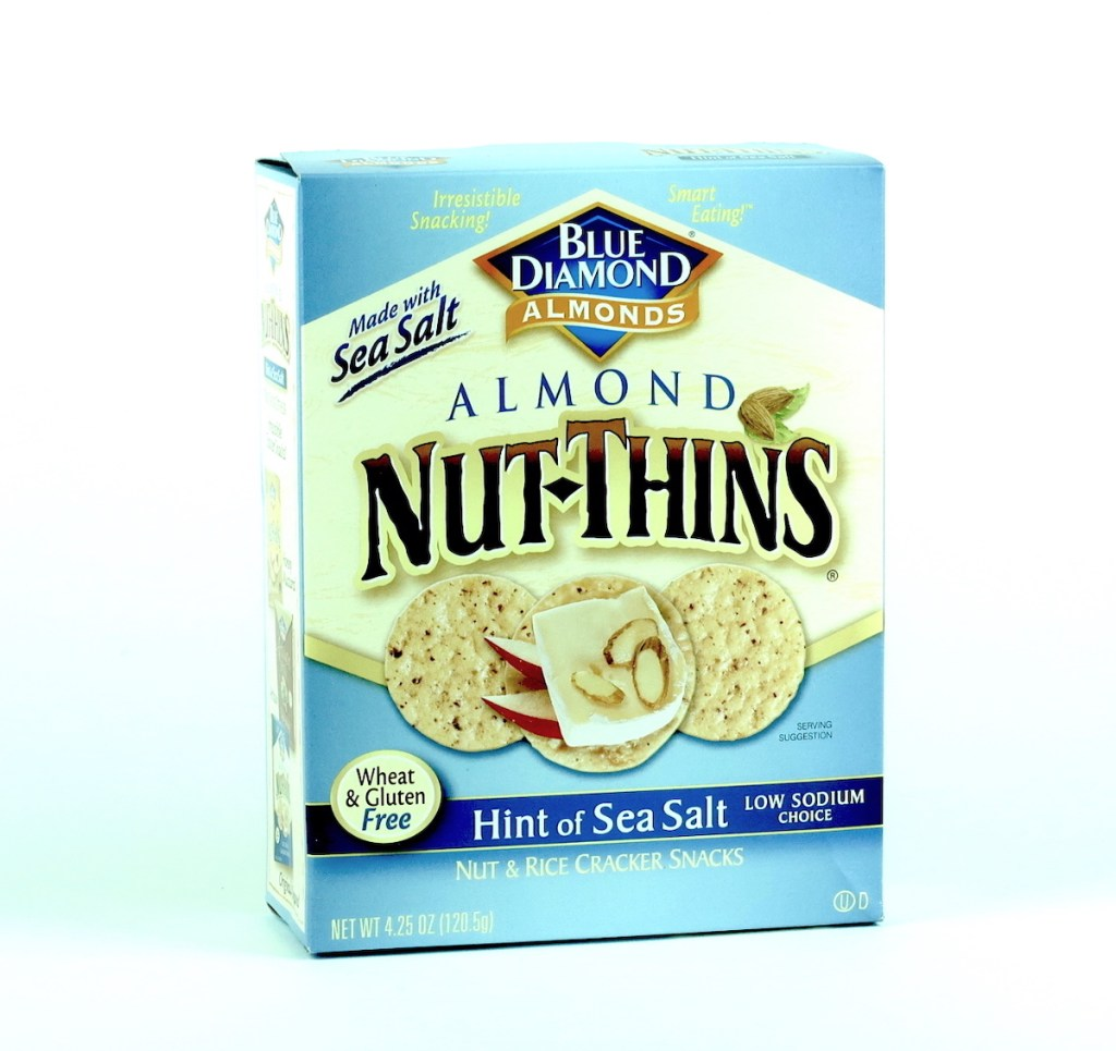 Product Review: Blue Diamond Almonds Nut-Thins Hint of Sea Salt
