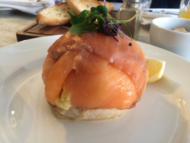 Salmon and egg Brunch Hurchesons May 2015