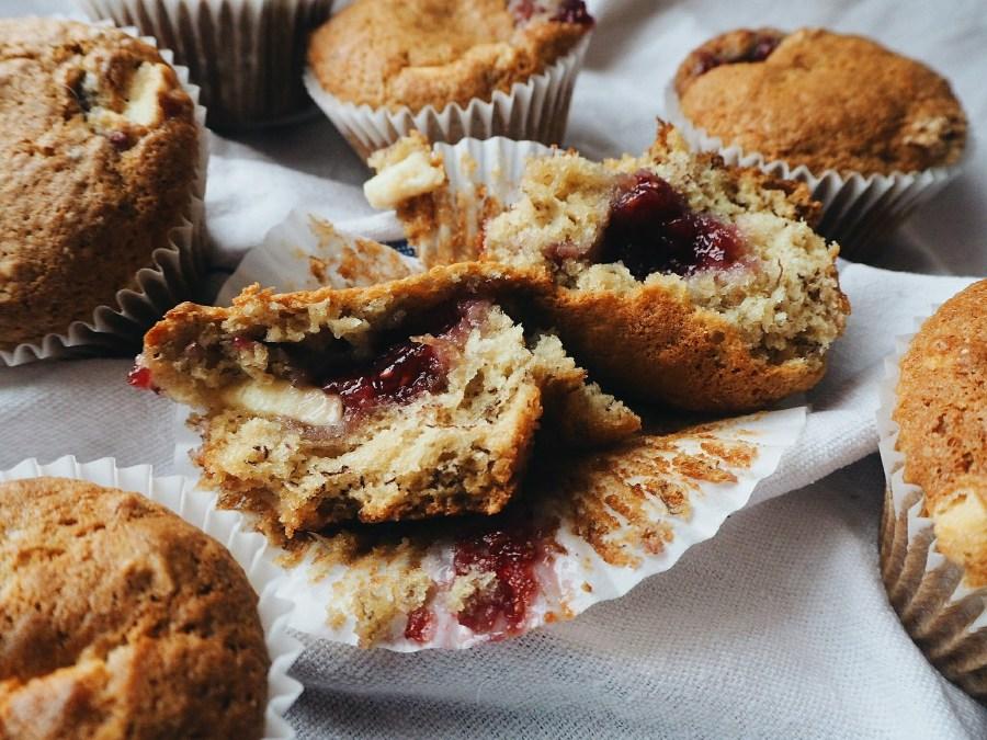 Banana & White Choc Muffin Recipe