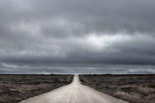 Carretera al más puro estilo medio oeste americano, un poco chunga.