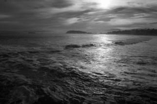 La Magdalena al fondo, la bahía, y mar, sobre todo mar.