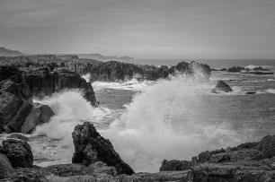 La ola rompiendo en donde más bonito rompen. Estaba el mar tranquilo, pese a lo que pueda parecer.