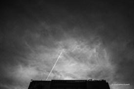 Avión en edificio