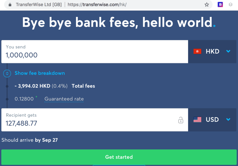 Better than Transferwise: Interactive Brokers can save over 90% off these fees