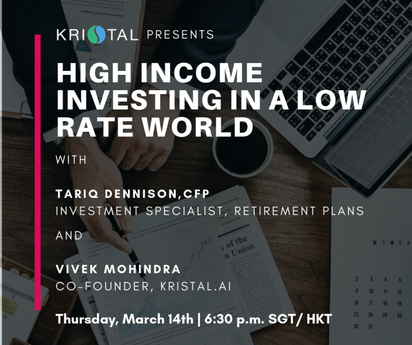 Kristal Webinar March 14th Income investing low rate
