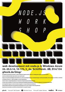 nodejs workshop poster