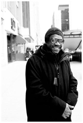 Happy street blues man